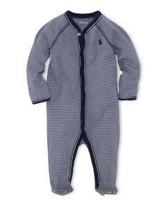 Striped Cotton Coverall - Baby Boy One-Pieces - RalphLauren.com