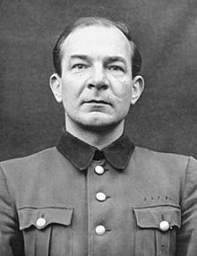 Since 1930, Joacim Mrugowsky had been involved in the Nazi ideology, first being the group leader of a local National Socialist German Students' Association then the NSDAP party member . In 1931, he joined the SS, where he achieved the rank of Oberführer in both the General SS and the Waffen SS.  Mrugowsky coordinated human experimentation at the Sachsenhausen concentration camp near Berlin. This included testing of biological warfare agents, including poisoned bullets.  In 1940, as the tr