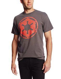 Star Wars Mens Empire Emblem T-Shirt Charcoal X-Large @ niftywarehouse.com