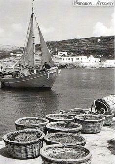 #Mykonos #waterfront ,#Gialos 1951-1953!