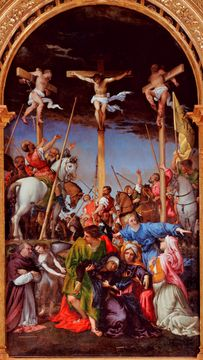 Lorenzo Lotto's paintings - Crucifixion