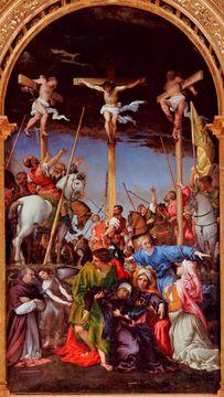 Lorenzo Lotto's paintings - Crucifixion