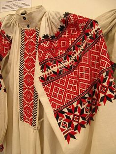 embroidery, folk costume, Rіvnenska region - Ukraine