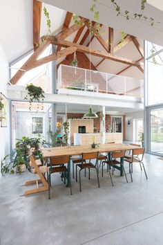 Modern Interior Design, Interior Architecture, Victorian Terrace House, Modern Barn House, Home Structure, A Frame House, Traditional House, Decoration, Home And Living