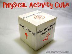 Little Family Fun: Physical Activity Cube