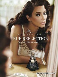 Pretty, pretty. Kim Kardashian's True Reflection fragrance ad. THAT. MAKEUP!