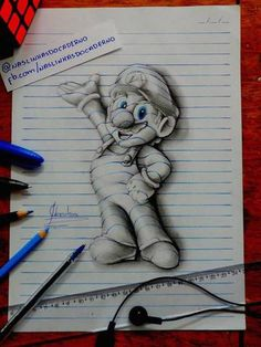 Ever wonder what your favorite cartoon characters would look like if they came to life? These 3D drawings by various artists, including the fifteen-year-old João Leno (a.k.a. J. Desenhos), get surprisingly close to reality.