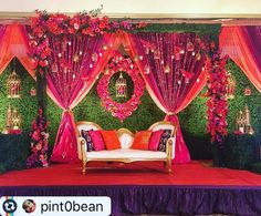 Top 24 Most Dazzling Wedding Stage Decoration That You Haven't Seen wedding stage Top 24 Most Dazzling Wedding Stage Decoration That You Haven't Seen Wedding Stage Decorations, Wedding Stage Backdrop, Wedding Stage Design, Reception Backdrop, Marriage Decoration, Engagement Decorations, Stage Backdrops, Indian Wedding Stage, Desi Wedding