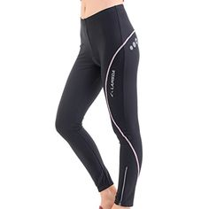 4ucycling Lambda Womens Black Foam Gel Padded SpringSummer Cycling Compression Pants Tights >>> Check out the image by visiting the link.Note:It is affiliate link to Amazon.