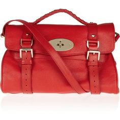 Mulberry The Alexa textured-leather satchel ($1,650) ❤ liked on Polyvore