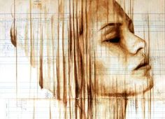 Coffee paintings by Michael Aaron Williams