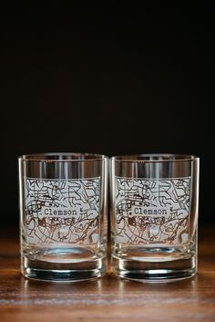 Clemson College Town Rocks Glass Set