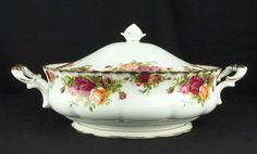 Royal Albert Old Country Roses Lidded Vegetable Tureen 1962-73 1st Quality VGC