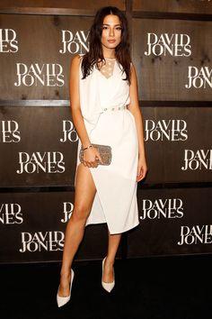 Jessica Gomes at the David Jones 2014 Autumn Winter Launch - Celebrity Fashion Trends