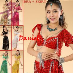 <font><b>Belly</b></font> <font><b>Dance</b></font> Costume (Bellydance Bra+Shiny Skirts) Bollywood <font><b>Dance</b></font> Costumes 8colors <font><b>Dance</b></font> Wear Party Dress Tribal Free Shipping.  Check out more by going to the photo