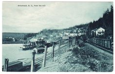 BC – ARROWHEAD, View of Town From the Mill c.1918 PPC