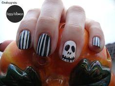 #jackskellington #nailart for #halloween