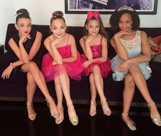 Kendall, Maddie, Mackenzie and Nia at DWTS