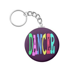 DANCER GIFT KEY CHAIN Customize the background for your own personal look!