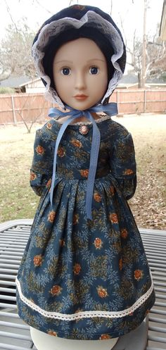 16 Doll Clothes Historical 1830's Gown Fits A by Designed4Dolls