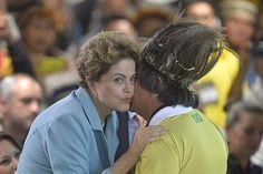 Dilma lança os Jogos Mundiais Indígenas e quebra protocolo. Foto: Cadu Gomes/Fato Online