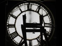 Behind the clock-face in the Clock-Tower at Culzean Castle.