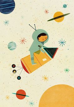 - Illustration by Blanca Gomez. Best Picture For kids - Art And Illustration, Astronaut Illustration, Art Plastique, Illustrators, Art For Kids, Character Design, Character Flat, Artsy, Painting