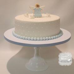 Angel christening cake Boy Baptism, Christening, Baptism Cakes, First Birthday Cakes, Birthday Bash, Torta Angel, Holy Communion Cakes, Angel Theme, Baby Dedication