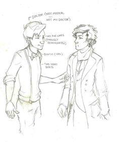 Sherlock deduces The Doctor