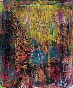 Gerhard Richter, Grad (Degree), Oil on canvas. Contemporary Abstract Art, Modern Art, New European Painting, Gerhard Richter Painting, Hanging Art, Abstract Expressionism, Les Oeuvres, Creative Art, Abstract Art