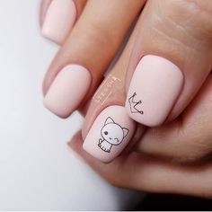 100 Most Beautiful Short Nails Designs for 2019 While some women like their nails to be long, the others find short nails practical. Check most stunning short nails designs for your inspiration. Cute Acrylic Nails, Cute Nail Art, Short Nail Designs, Nail Art Designs, Nails Design, Nails Ideias, Nail Manicure, Nail Polish, Gel Nagel Design