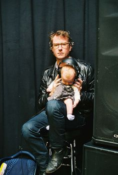 Matt Berninger of The National w/ his daughter (by The Red Hot Organization, via Flickr)