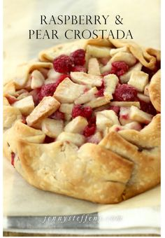 """Raspberry & Pear Crostata 