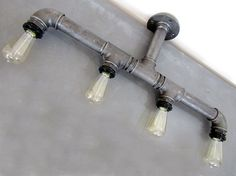 Industrial Pipe Chandelier Ceiling Four by HandMadeProjects4u