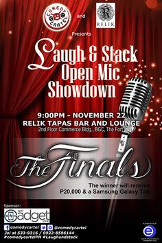 Comedy Cartel: Laugh & Stack Open Mic Showdown Grand Finals Pop Culture News, Finals, Comedy, Neon Signs, Final Exams, Comedy Theater, Funny Movies