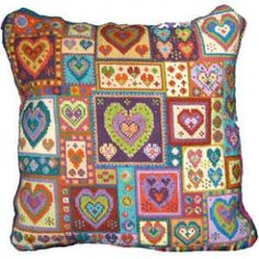 A wonderful patchwork of hearts of all different colours and sizes ...wye.co.uk