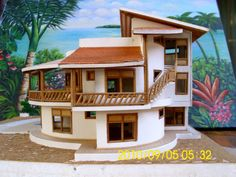 Modern Bungalow House, Bungalow Interiors, Modern House Plans, Old Style House, Bamboo House Design, Rammed Earth Homes, Small Villa, Hut House, Eco Buildings