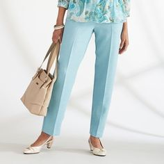 485a05bc917 Alfred Dunner Pants notting hill pull on Proportioned women s size 16