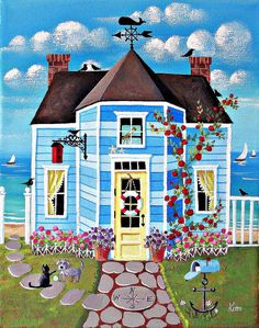 """Crow's Nest Cottage"" - Kim Leo"