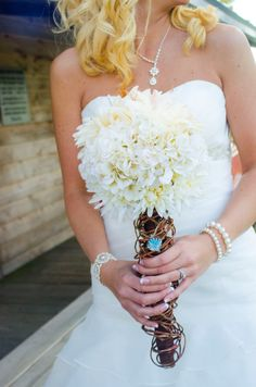 Artificial Wedding Bouquet by theredzebra on Etsy, $175.00