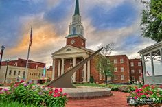 @ktownnews1 #roco @kannapolis #downtown #veteranspark #fisrtbaptist #church @gemtheatre  Another older shot of Kannapolis. Re-edited this time with @TopazLabs #Impression2. Will ge going back through a bunch of shots of KTown.  David  (C) 2016 RomanDA Photography All Rights Reserved