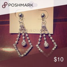 Dangle earrings! Would be great for competition Jewelry or for special occasions! Beautiful! Jewelry Earrings