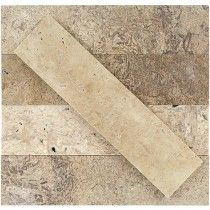 Brushed Stone Travertine 2x8 Marble