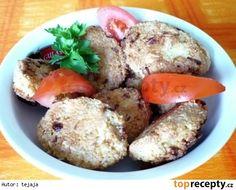 Tofu-kuskusové karbanátky Tofu, Tempeh, Hamburgers, Baked Potato, Potatoes, Baking, Ethnic Recipes, Hamburger Patties, Bread Making