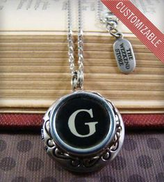Custom Silver Typewriter Key Locket by Vintage MacGyver, Oakland, CA | The Weekend Store on Scoutmob Shoppe  And this, for me. A, please.