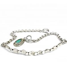 Bransoletka z turkusem | Galeria Pomysłu | Oryginalna Biżuteria Srebrna
