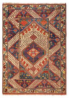 GÖRDES/GHIORDES (a district of the Manisa province, lying east of Akhisar) bridal rug, ca. 1900.  180 x 130 cm.