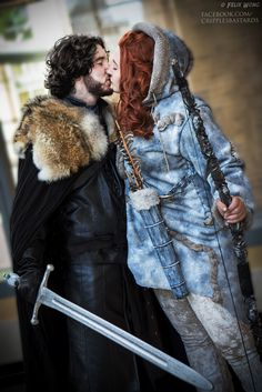 Jon Snow and Ygritte Game of Thrones Cosplays