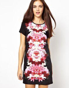Ginger Fizz | Ginger Fizz Shift Dress Mirror Orchid Print at ASOS