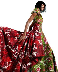"""Vlisco fabric. """"These Wax Block fabrics were inspired by  the voluptuous curves of a meandering river - a symbol  of your graceful strength through the ages."""""""
